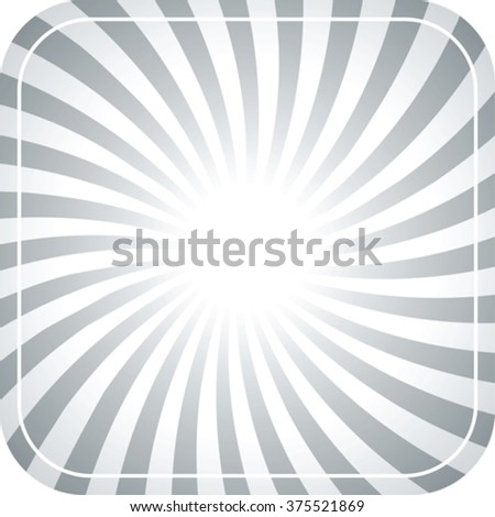 abstract vintage frame with twisted rays and rounded corners - stock vector