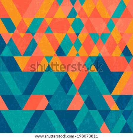 Abstract vintage geometry background with grunge texture.