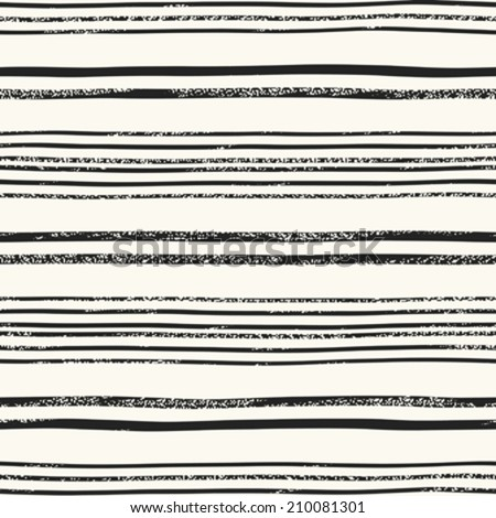 Abstract vintage noisy textured striped background. Seamless pattern. Vector. - stock vector