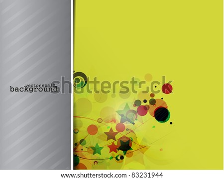 abstract vintage poster. A retro circus & star background - stock vector
