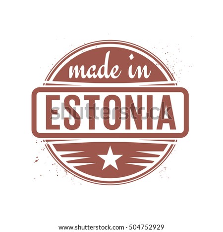 Abstract vintage stamp or seal with text Made in Estonia, vector illustration