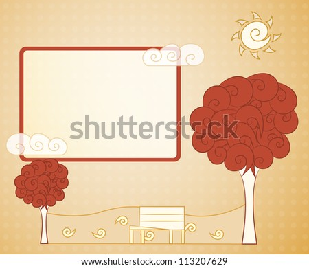 abstract vintage tree - stock vector