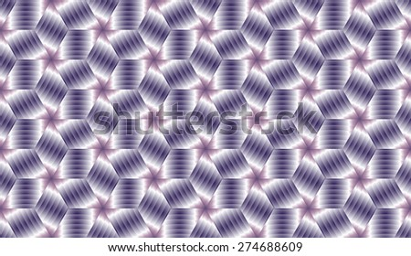 Abstract violet metallic decorative  cube endless pattern design vector - stock vector