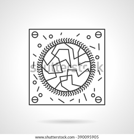 Abstract virology test sign. Microbiology and virology research. Science and medicine. Flat line style single vector icon. Element for web design, business, mobile app.  - stock vector