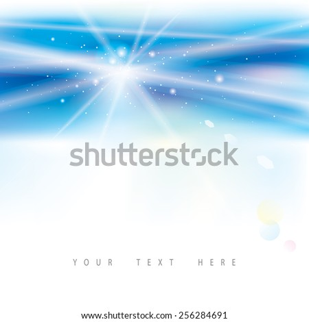 Abstract virtual blue light background. - stock vector