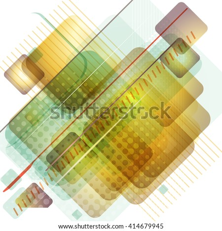 Abstract virtual space technology background. Vector illustration. - stock vector