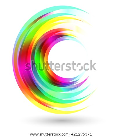 Abstract vivid colors circles illustration, clip art. Design element. Abstract shape background. - stock vector