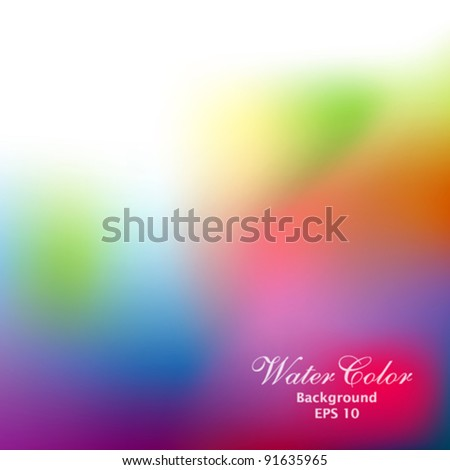 Abstract water color background illustration - stock vector