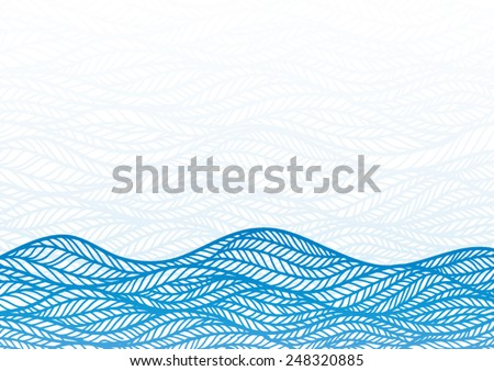 Abstract water drawing vector background.