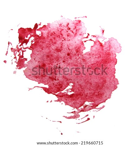 Abstract watercolor art hand paint on white background vector
