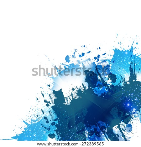 abstract watercolor background, easy all editable - stock vector