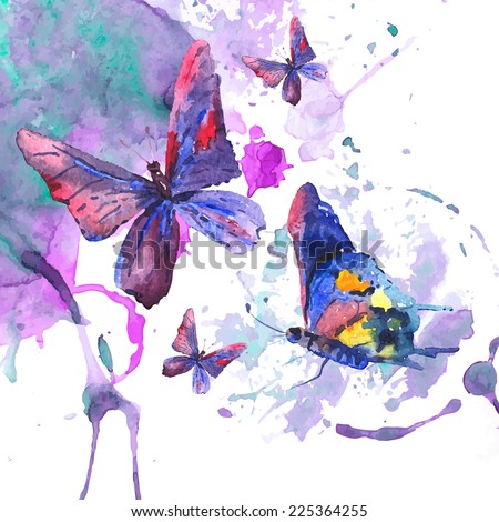 Abstract Butterfly Watercolor Abstract Watercolor Background