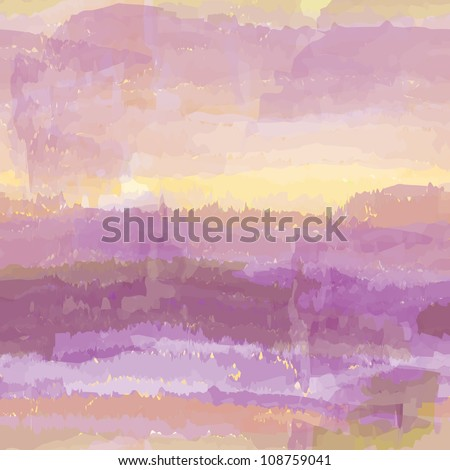 Abstract watercolor background with cloudy sky - stock vector