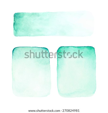 Abstract watercolor backgrounds. - stock vector