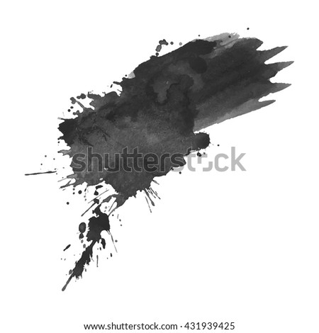 Abstract watercolor grayscale gradient background. Vector illustration. Grunge texture for cards and flyers design. A model for the creation of digital brushes