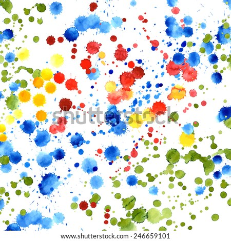 Abstract watercolor. Hand painted splashes. Vector illustration. - stock vector