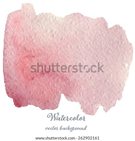 Abstract watercolor magenta hand drawn texture, isolated on white background, vector eps10 - stock vector