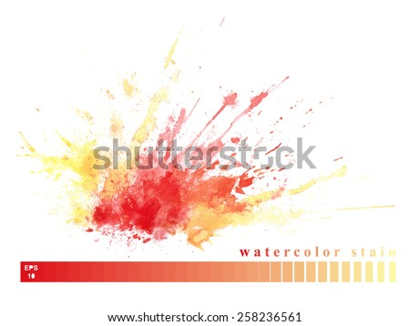 Abstract watercolor stain for your design