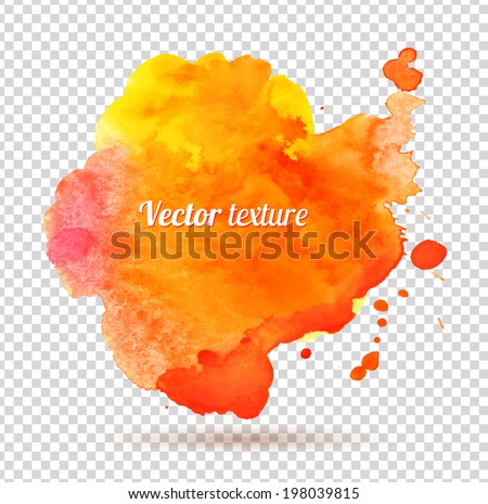 Abstract watercolor texture. Vector. Isolated. - stock vector