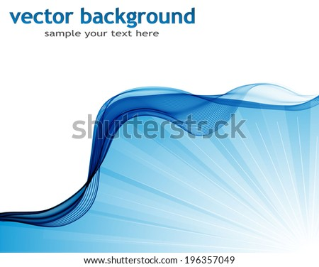 Abstract wave - stock vector