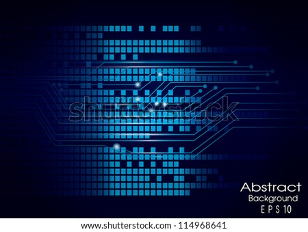 Abstract wave and technology background, vector eps10 - stock vector