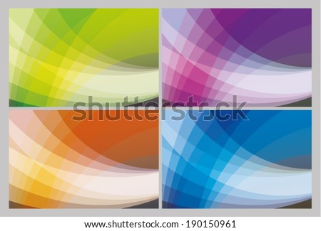 Abstract wave background - stock vector