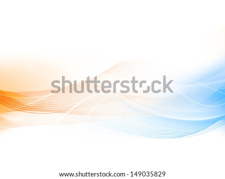 Abstract wave background, can be use as for corporate presentations.  - stock vector