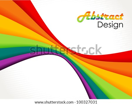Abstract wave background composition, eps10 - stock vector