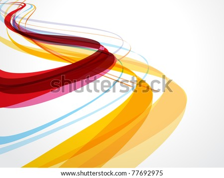 Abstract wave background composition - vector illustration - stock vector