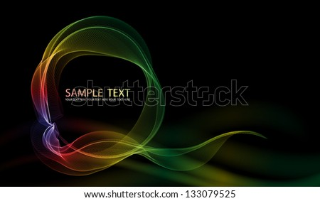 Abstract wave background. EPS10 vector. - stock vector
