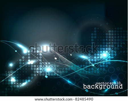abstract wave background, eps10 vector. - stock vector