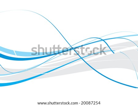 abstract wave background, vector illustration
