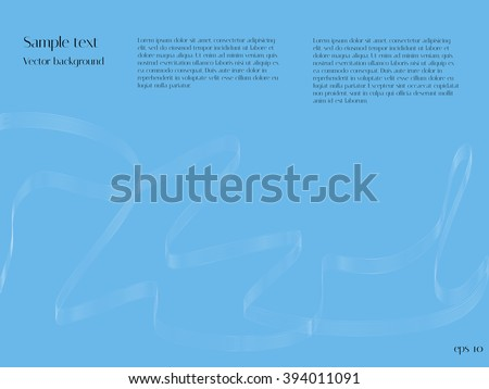Abstract wave blend. Blue vector background for design catalogs and journals - stock vector