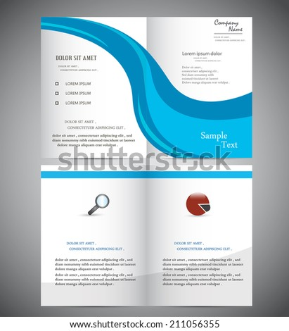 Abstract Wave Brochure for Business - stock vector