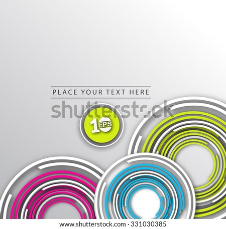 Abstract Wave Circle Design, eps10 vector - stock vector