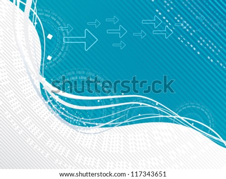 abstract wave concept vector illustration