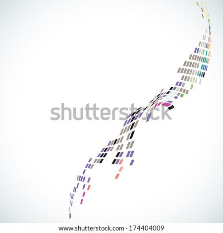 Abstract wave consists of square  background - stock vector