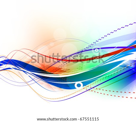 Abstract  wave element design, vector illustration. - stock vector