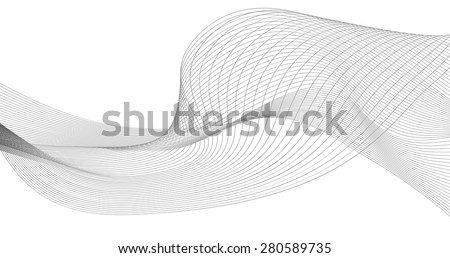 abstract wave element for design vector illustration - stock vector