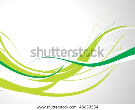 abstract wave line background with space of your text, vector illustration