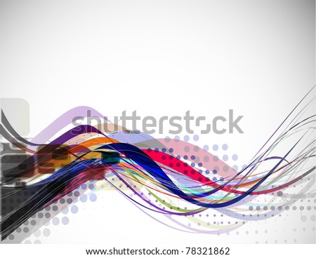 abstract wave line with space of your text background used. - stock vector