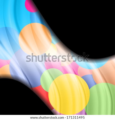 abstract wave of colored balls