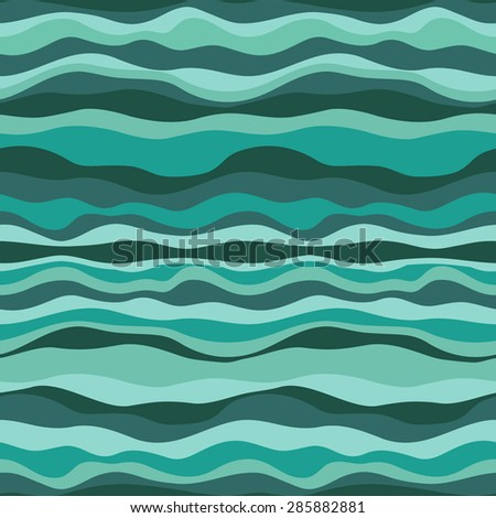 Abstract wave. Seamless pattern - stock vector
