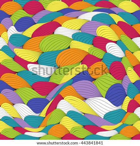 Abstract Wave Seamless Pattern Background. Vector Illustration EPS10