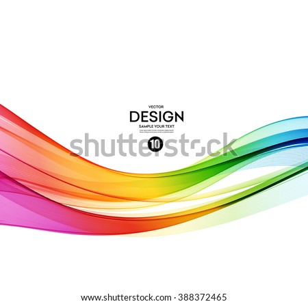 Abstract wave vector background, rainbow  waved lines for brochure, website, flyer design. Spectrum wave. Rainbow color. Smoky color lines  - stock vector