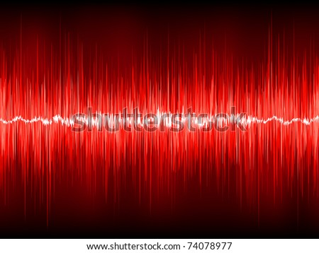 Abstract waveform vector background. EPS 8 vector file included - stock vector
