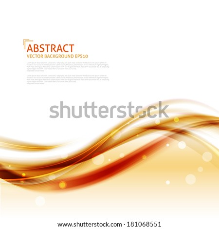 Abstract waves background - Design Template - stock vector