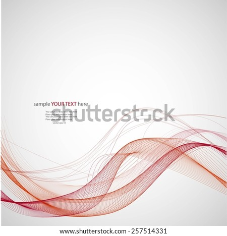 Abstract waves on gray background - stock vector