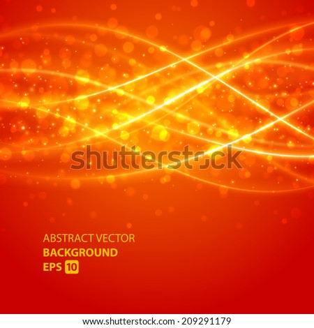 Abstract waves vector background. Energy light lines design.  - stock vector
