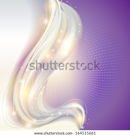 Abstract waving christmas background - stock vector